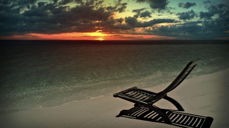 decline, beach, chair