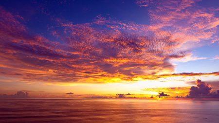 decline, evening, clouds