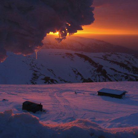 decline, mountains, ice