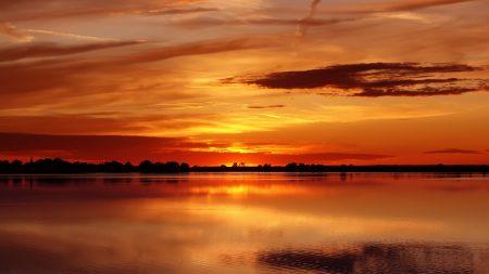 decline, orange, sky