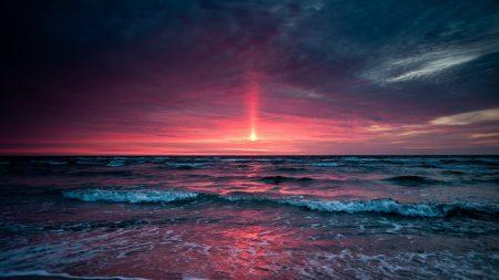 decline, sea, evening