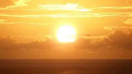 decline, sea, sun
