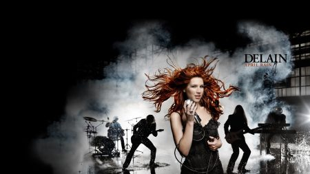 delain, band, smoke