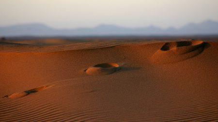 desert, sand, traces