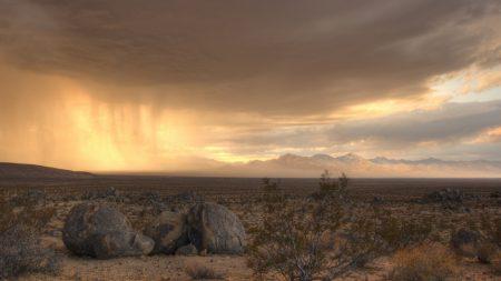 desert, stones, sky
