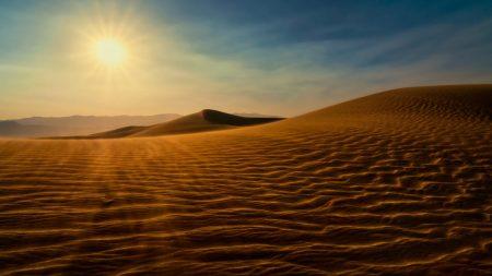 desert, sun, sand