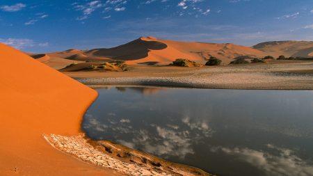 desert, water, sand
