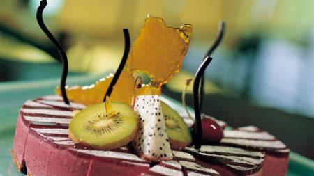 dessert, kiwi, cherries