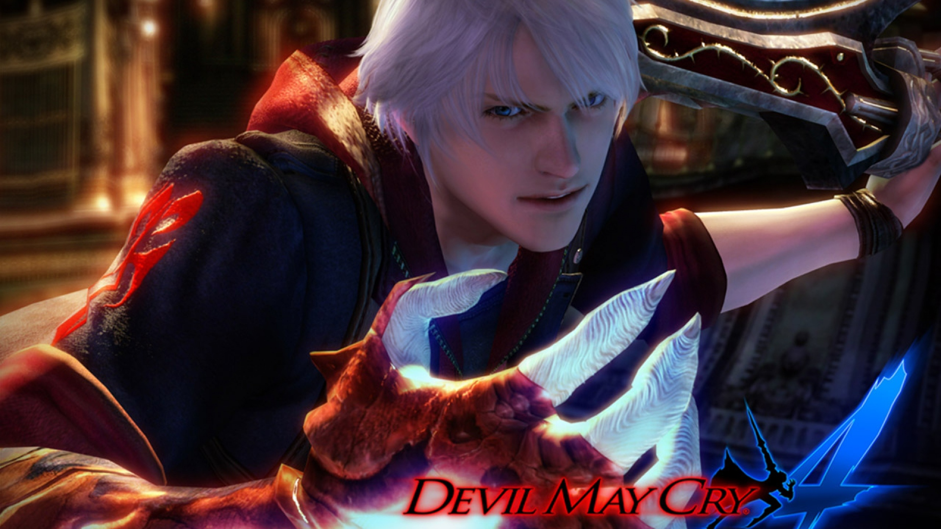 Download Wallpaper 1920x1080 Devil May Cry 4 Nero Hand Sword