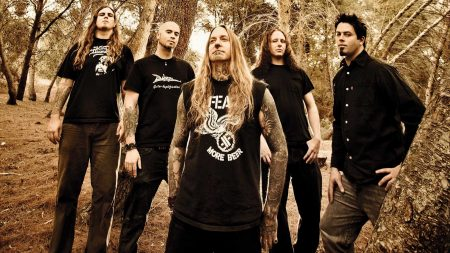 devildriver, tattoo, forest