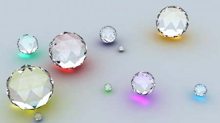 diamonds, shape, reflection