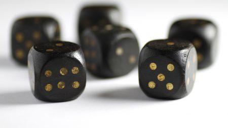 dice, game, black
