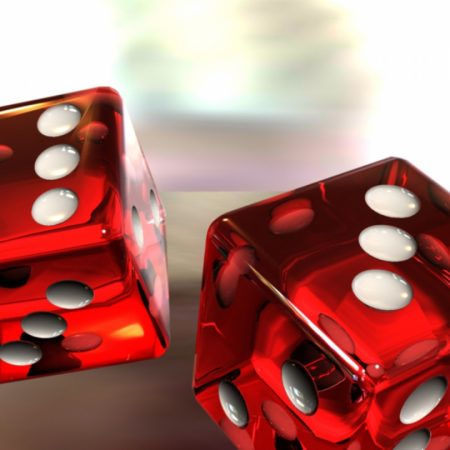 dice, game, red