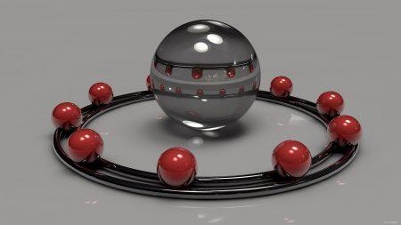 digital art, 3d, balls