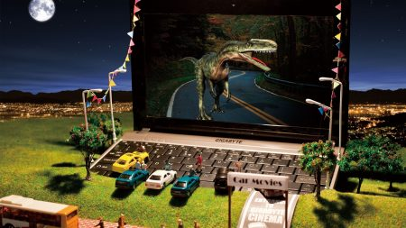 dinosaur, laptop, movies