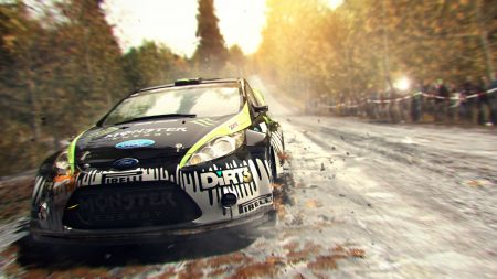 dirt showdown, car, road