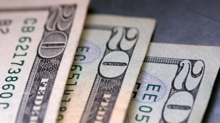 dollars, banknotes, twenty