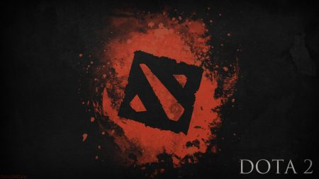 dota 2, black logo, art
