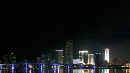 downtown, miami, night
