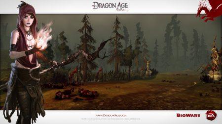 dragon age origins, girl, fire