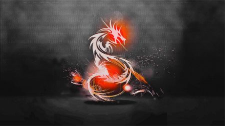 dragon, background, light
