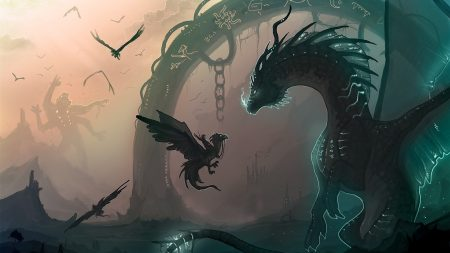 dragon, chain, cub