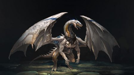 dragon, creature, wings