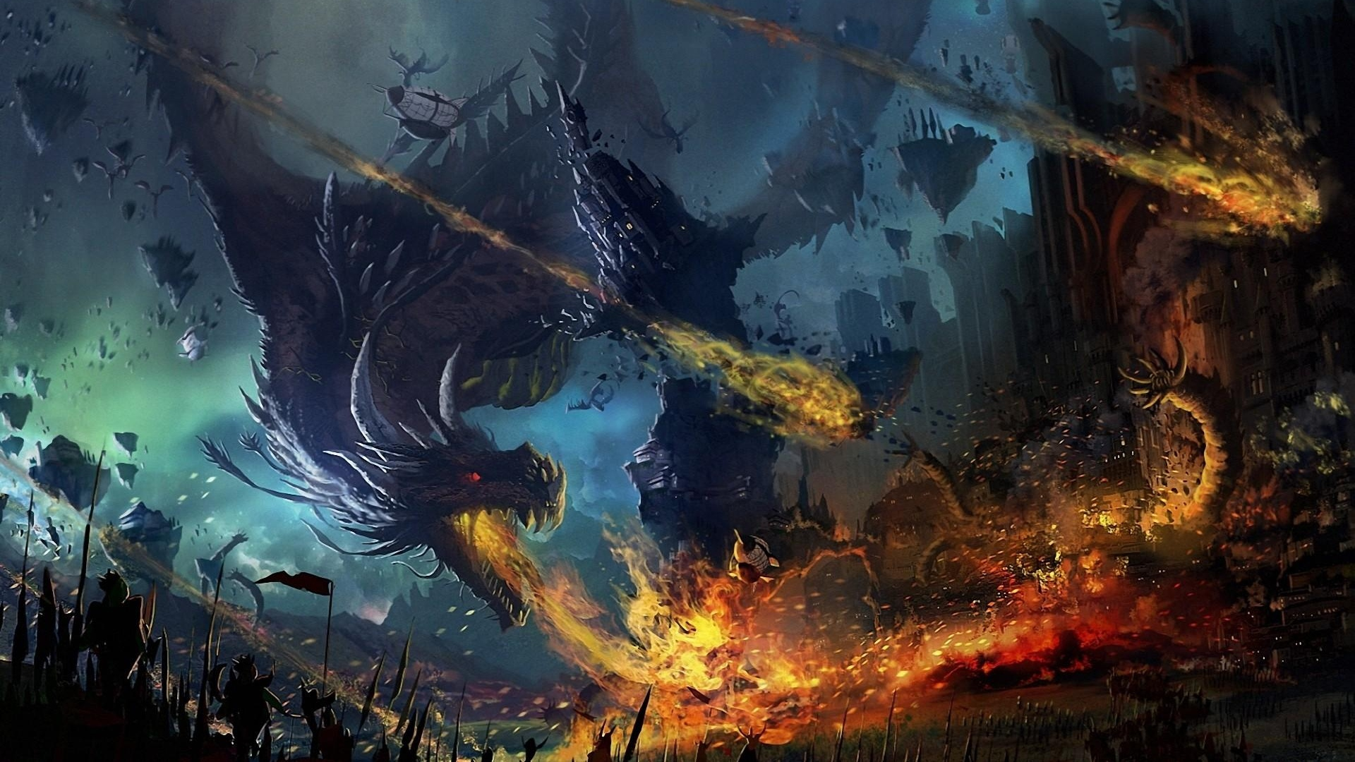 Image Result For Dragon Wallpaper Dragon Fall Fire Flame War Battle