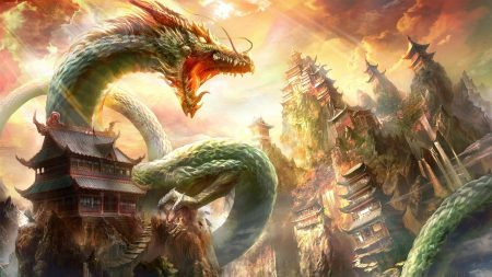 dragon, mouth, house