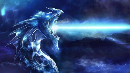 dragon, mouth, night