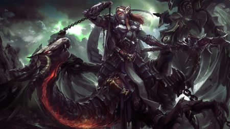 dragon, rider, chain
