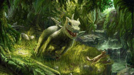 dragon, small, squirrel