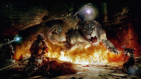 dragons dogma, beast, fire