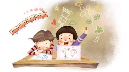 drawing, children, childhood