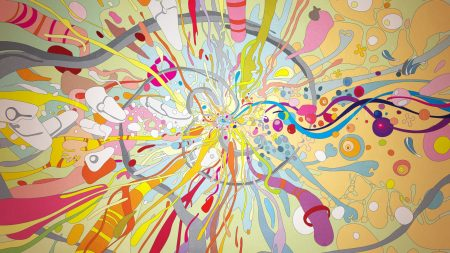 drawing, multicolored, light
