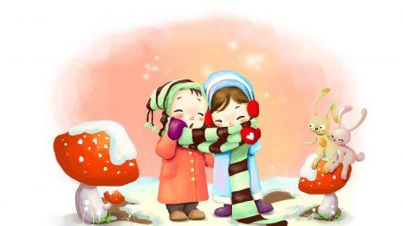 drawing, winter, kids