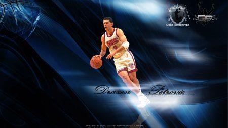 drazen petrovic, basketball player, ball