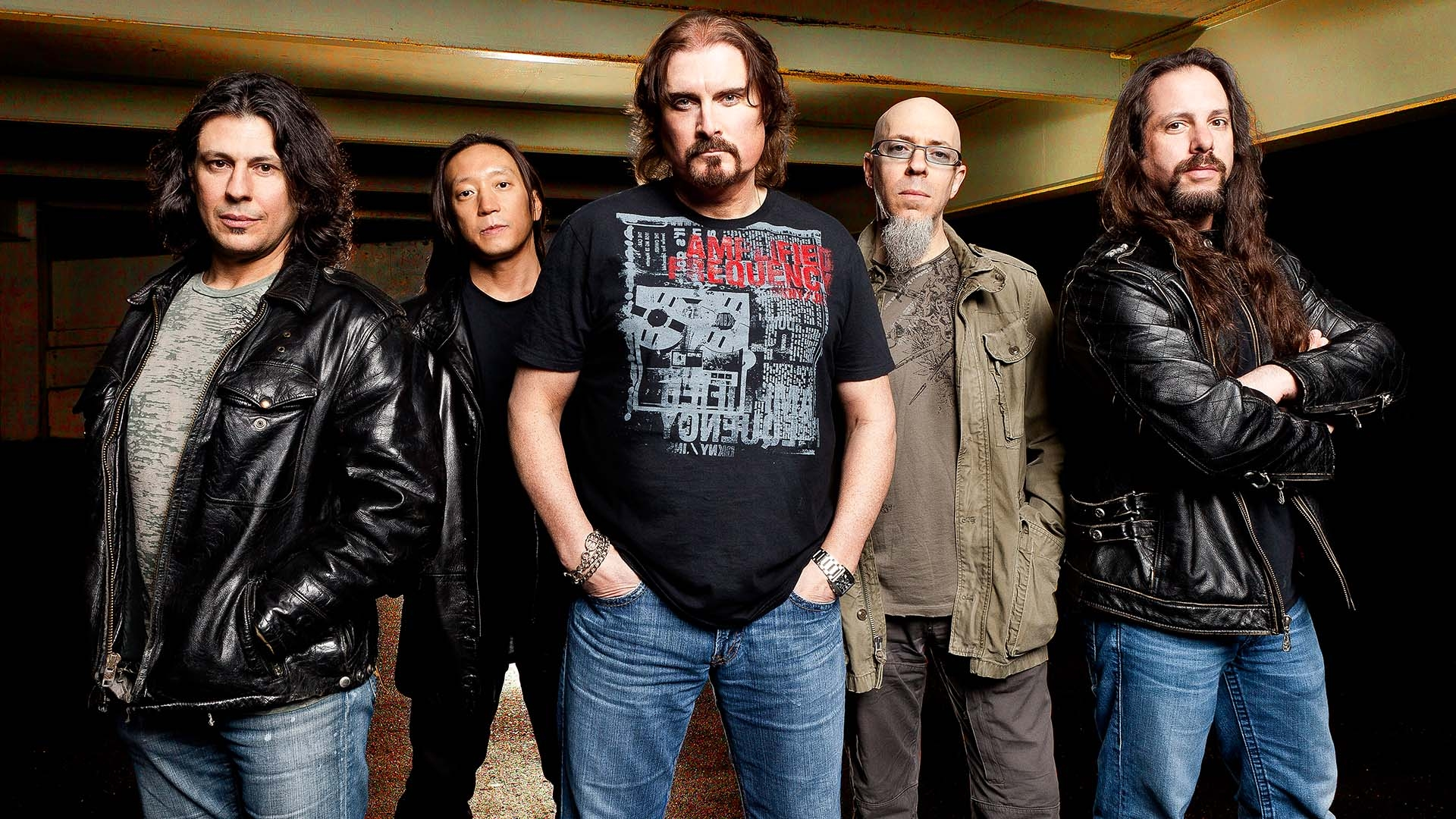 Download Wallpaper 1920x1080 Dream Theater Band Jackets Basement Glasses Full Hd 1080p Hd Background