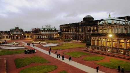 dresden, old buildings, lawns