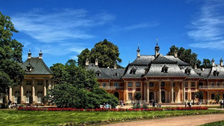dresden, pillnitz castle, buildings