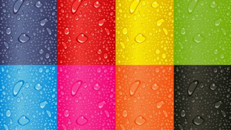 drops, color, rainbow