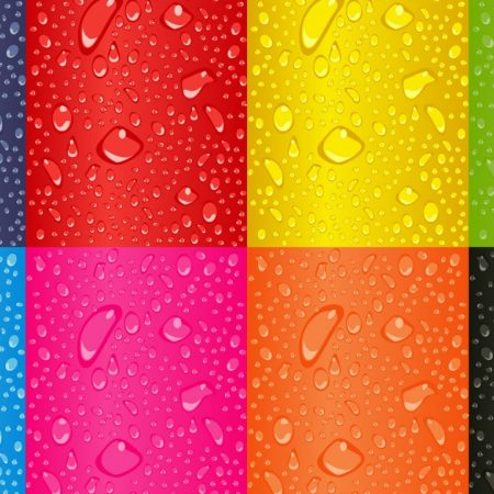 drops, color, rainbow