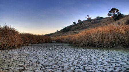 drought, cracks, earth