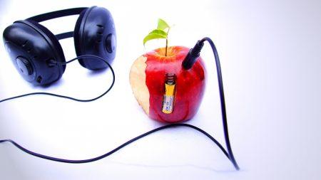 earphones, apple, battery