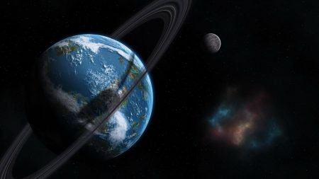 earth, circle, moon