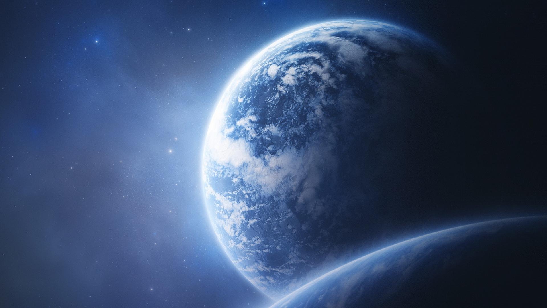 Download Wallpaper 1920x1080 earth, planet, orbit, picture ...