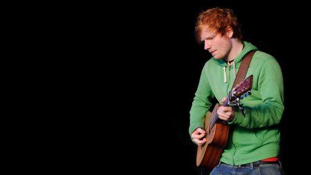 ed sheeran, guitar, red