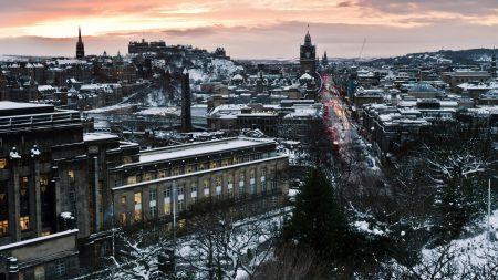 edinburgh, scotland, winter