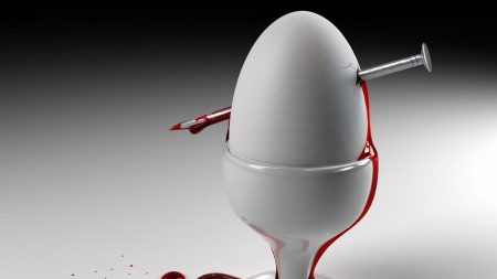 egg, blood, stand