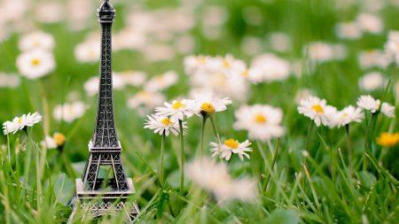 eiffel tower, grass, keychain